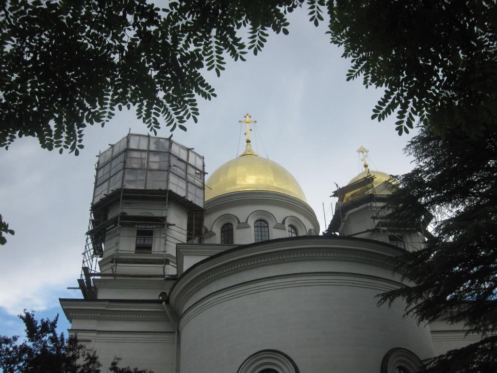 Строящийся собор в Симферополе