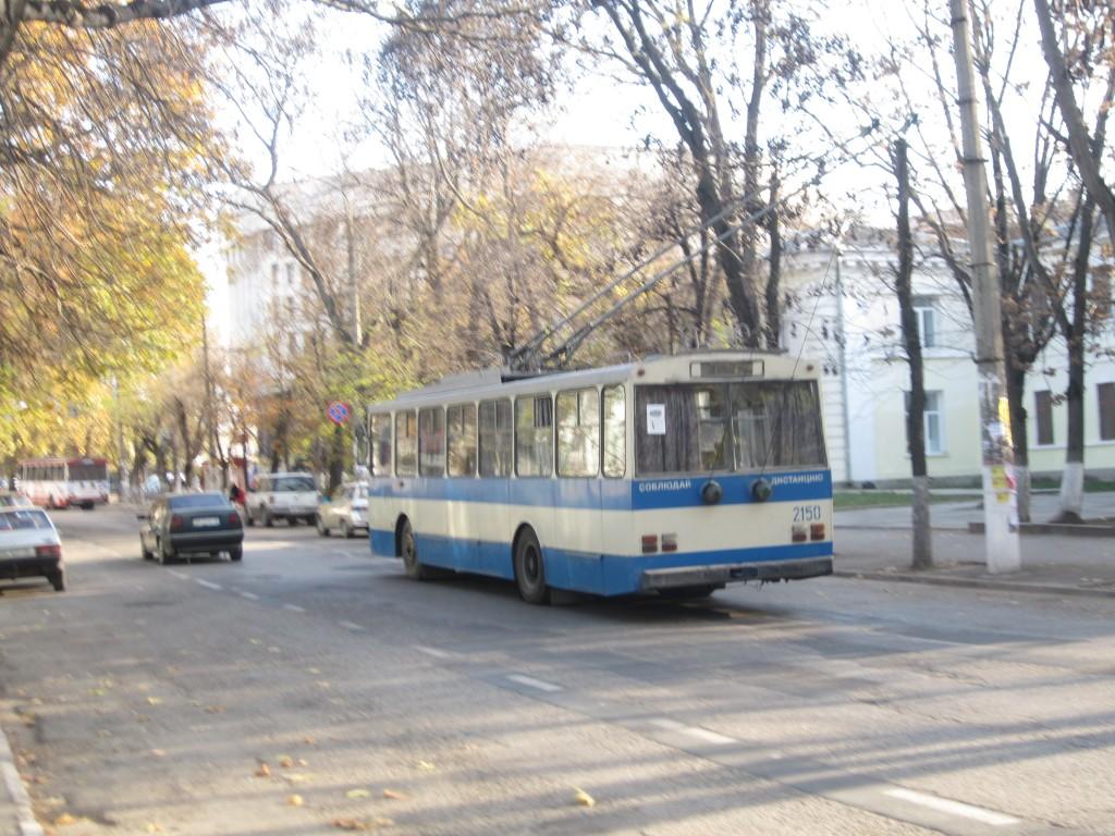 Старый троллейбус в Симферпооле