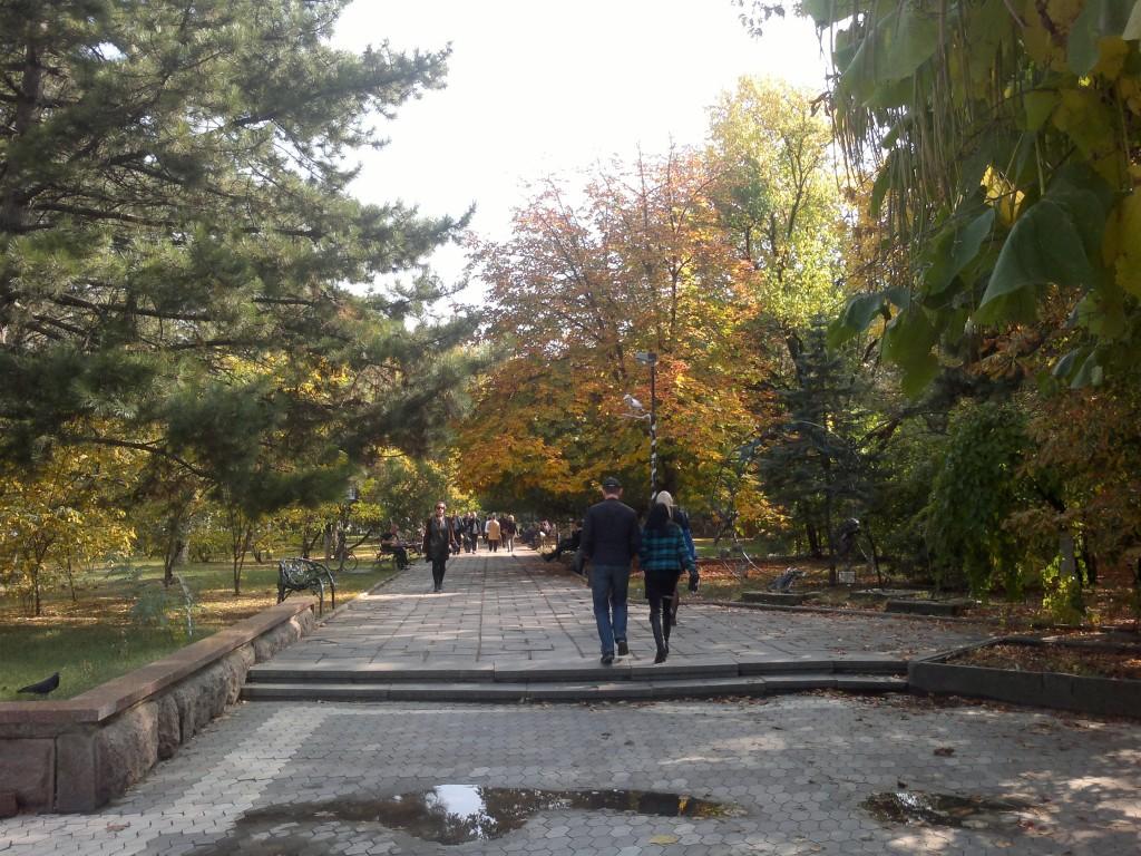 Сквер Дыбенко в октябре 2014