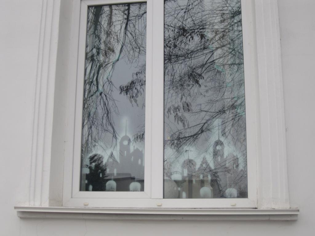 Симферополь, рисунки на стеклах