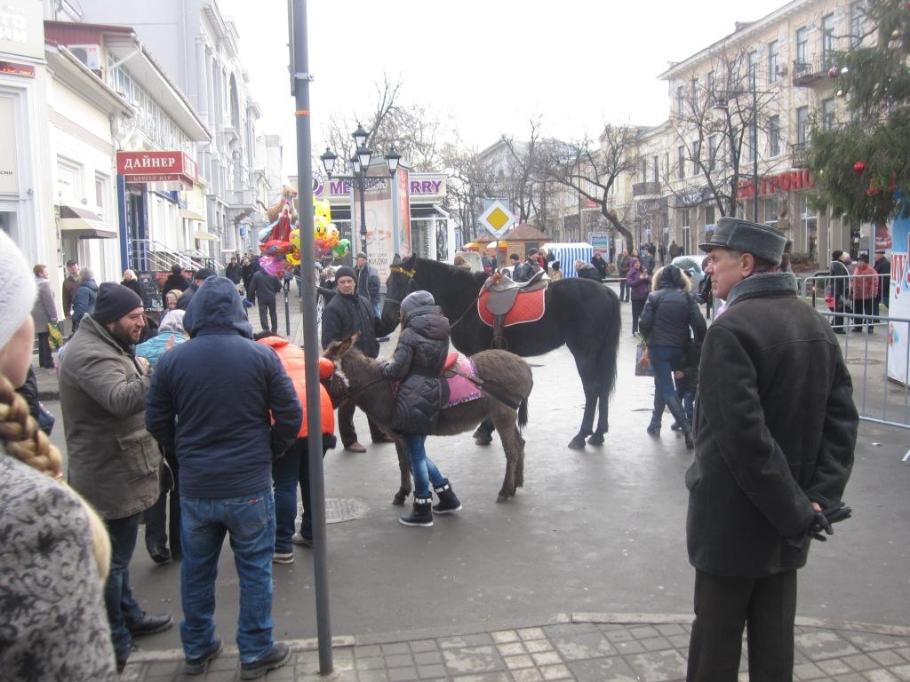 Центр Симферополя Новый год 2015