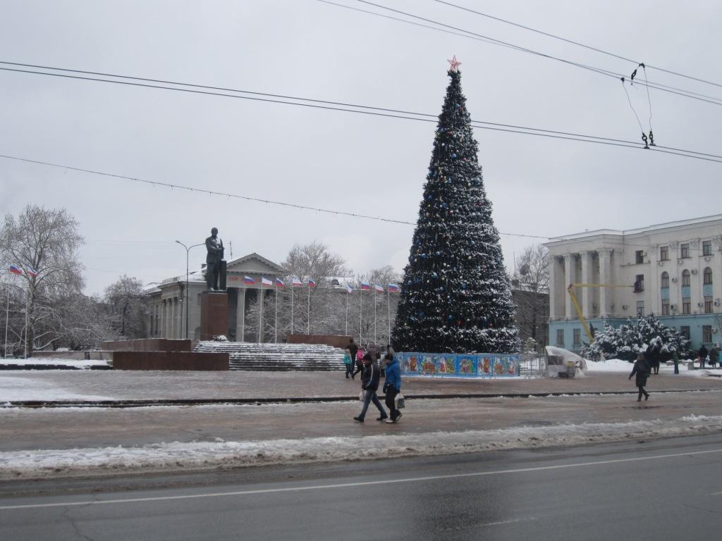 Центр Симферополя зимой