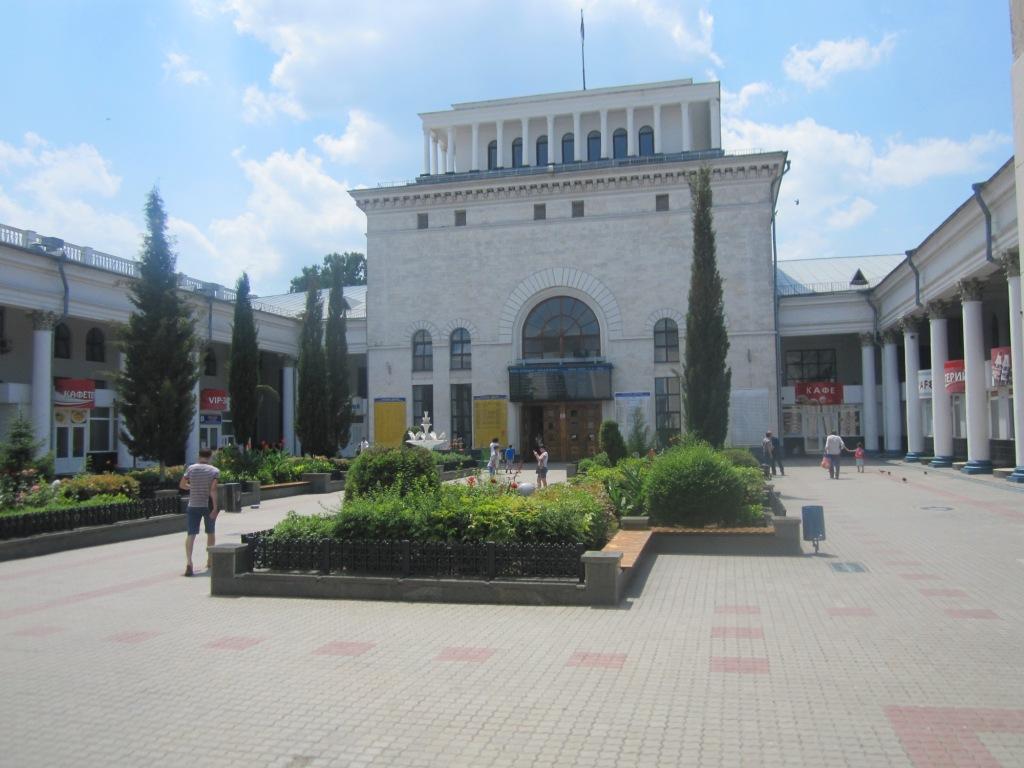 Внутренний дворик симферопольского вокза