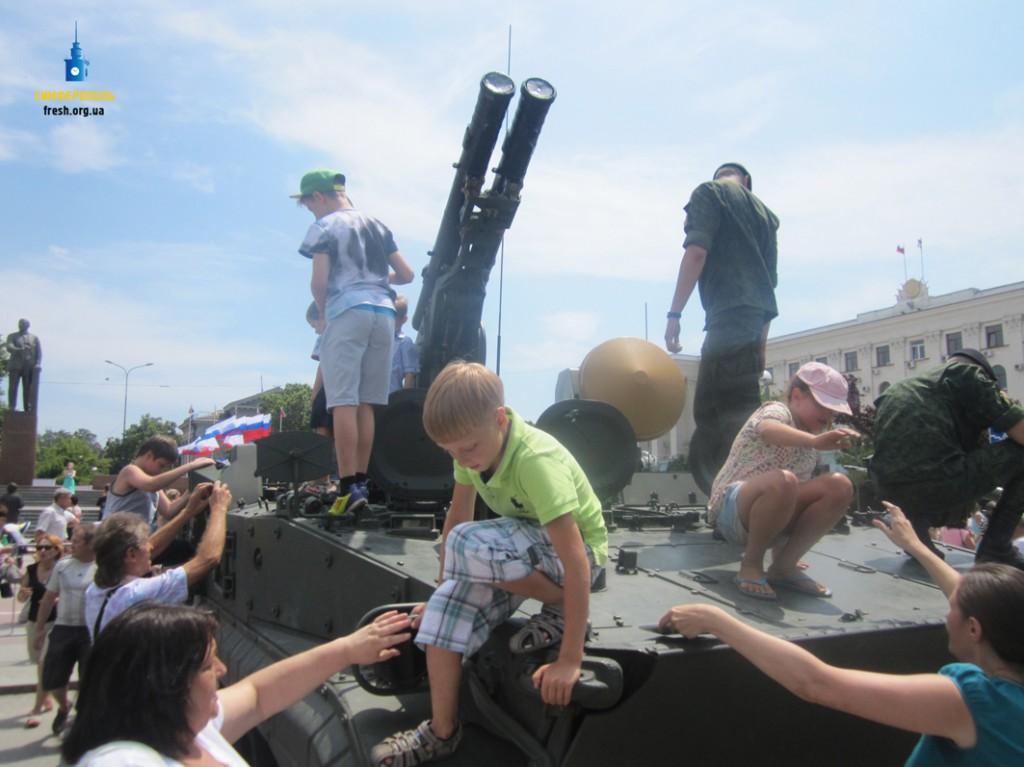Выставка военной техники в Симферополе