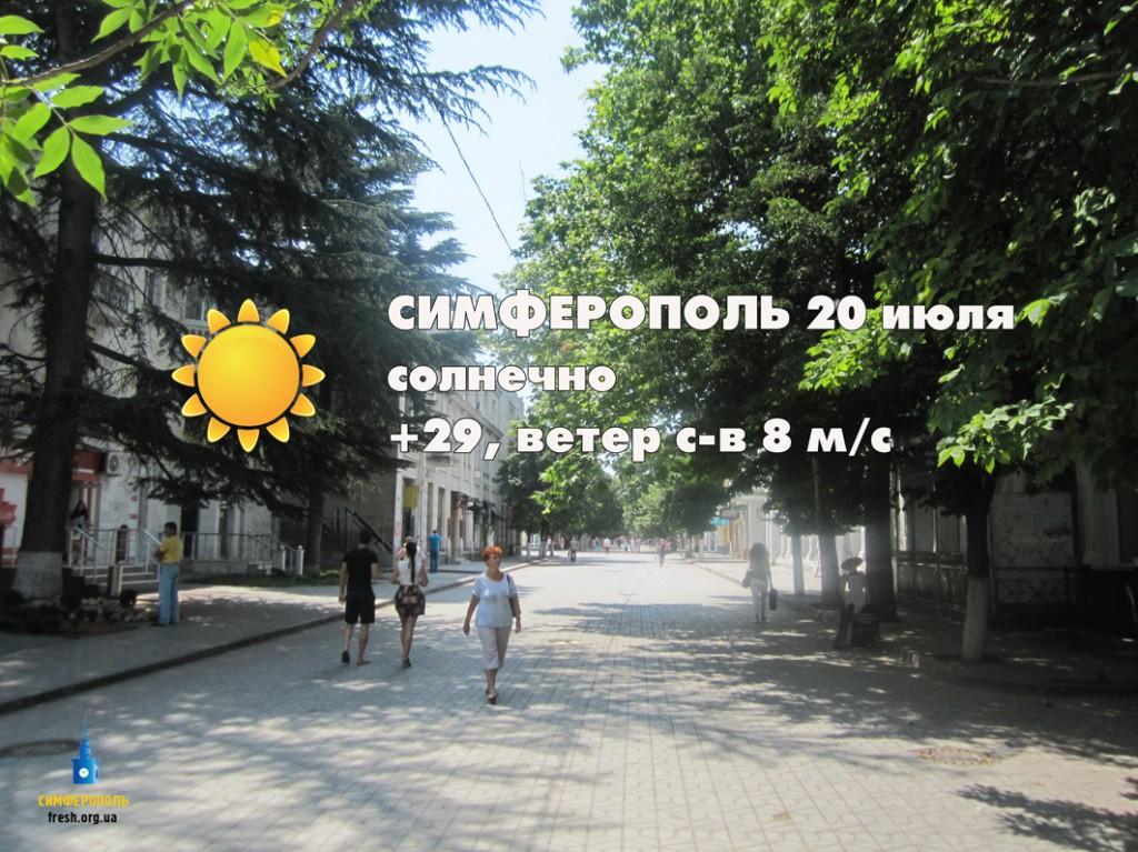 Погода 20 июля