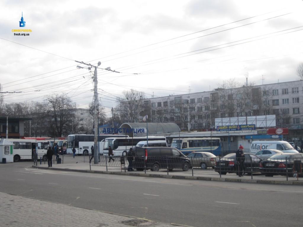 Вокзал Симферополя: площадь Привокзальна