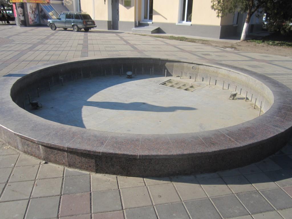 В Симферополе перестали работать фонтаны