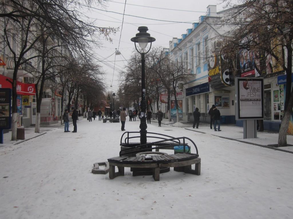 В Симферополе снег
