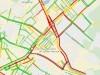 Въезд в Симферополь со стороны Феодосии стоит в гигантской пробке(карта)