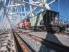 Крымский мост испытали грузовым поездом(фото+видео)