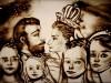 Знаменитая рисовальщица песком из Крыма Ксения Симонова изобразила жизнь последнего русского царя