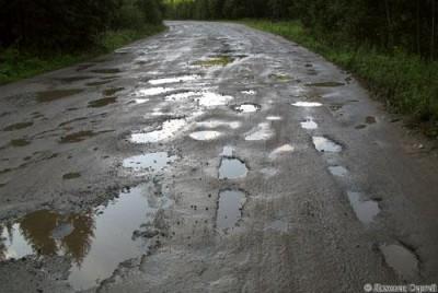 В Украине посчитали площадь разбитых дорог