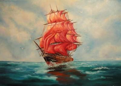 В Феодосию зайдет яхта с алыми парусами
