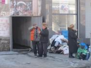 Пожар в центре Симферополя 23.12.12
